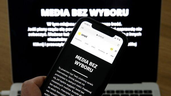 Protest polskich mediów - Media bez wyboru - Sputnik Polska