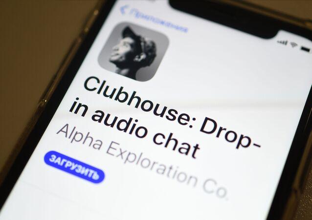Aplikacja Clubhouse.