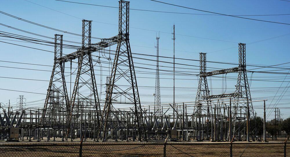 Linie energetyczne w Teksasie