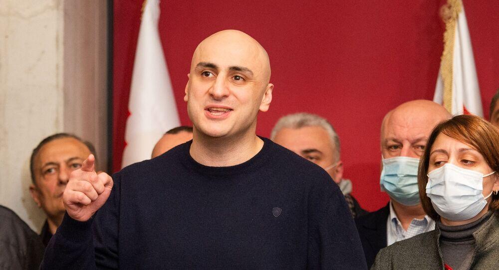Lider opozycyjnej partii Gruzji Zjednoczony Ruch Narodowy Nikanor Melia