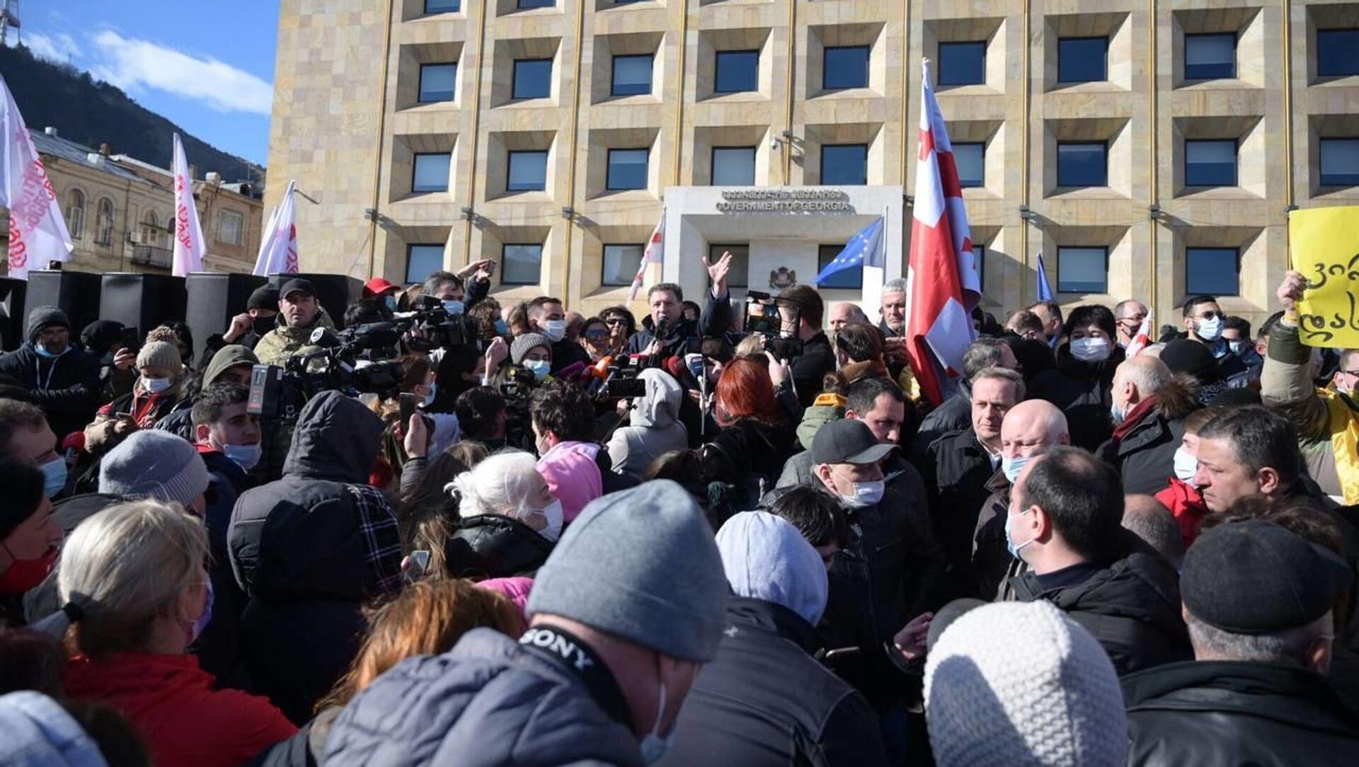 Protesty w Tbilisi, Gruzja - Sputnik Polska, 1920, 23.02.2021