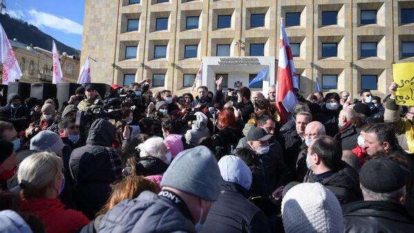 Protesty w Tbilisi, Gruzja - Sputnik Polska