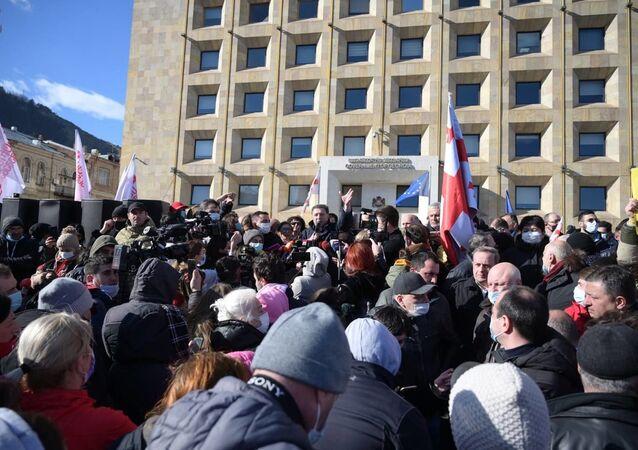 Protesty w Tbilisi, Gruzja