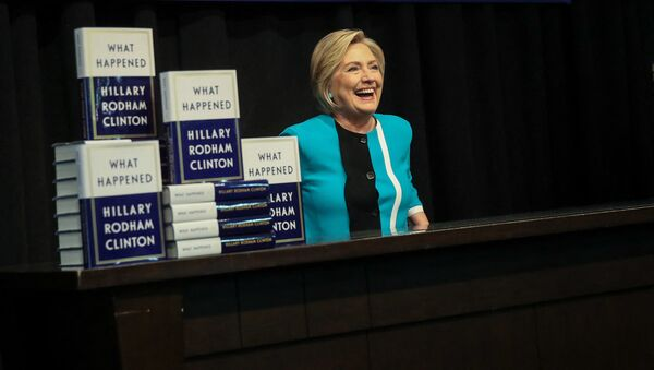 """Była sekretarz stanu USA Hillary Clinton na prezentacji swojej nowej książki """"Co się stało"""" w Waszyngtonie, USA - Sputnik Polska"""