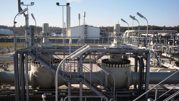 Obiekty lądowe gazociągu Nord Stream 2 w Lubminie w Niemczech - Sputnik Polska