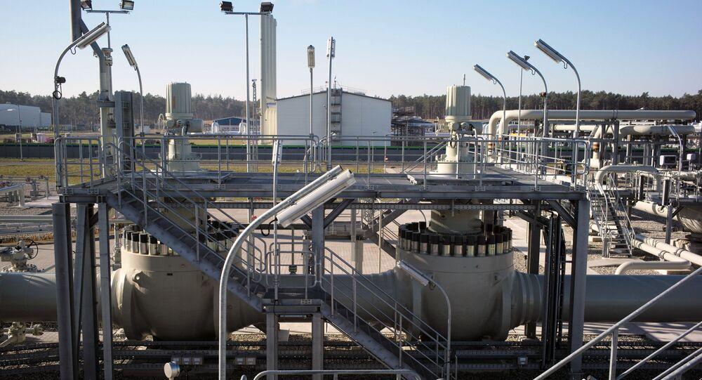 Obiekty lądowe gazociągu Nord Stream 2 w Lubminie w Niemczech
