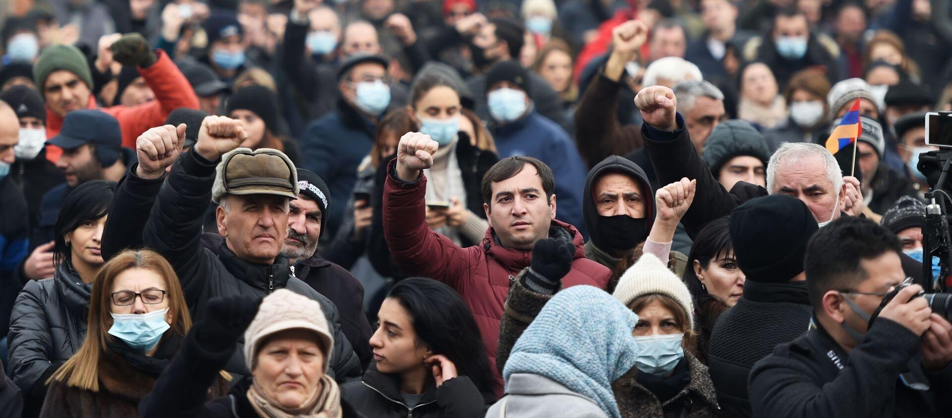 Protesty opozycji w Erywaniu - Sputnik Polska, 1920, 07.03.2021