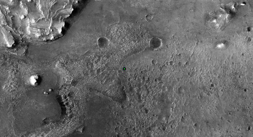 Miejsce lądowania łazika marsjańskiego na Marsie