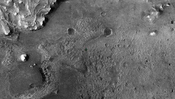 Miejsce lądowania łazika marsjańskiego na Marsie - Sputnik Polska