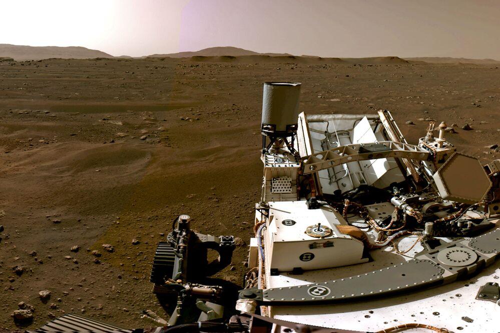 Krajobraz Marsa uchwycony przez łazik Perseverance
