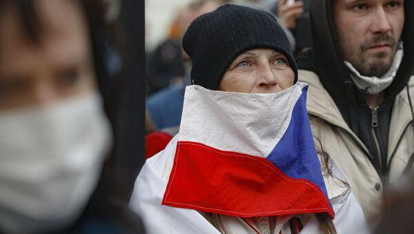Protesty w Pradze - Sputnik Polska