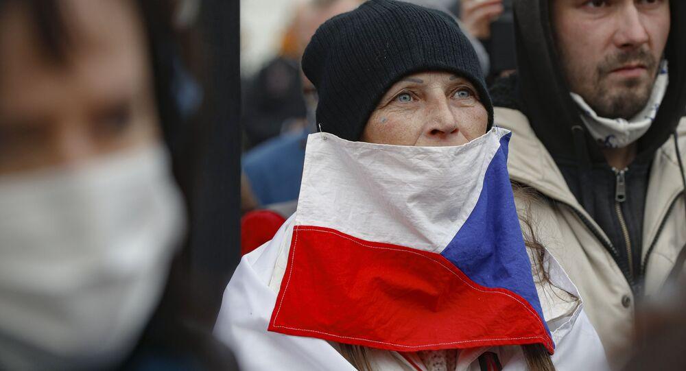 Protesty w Pradze.