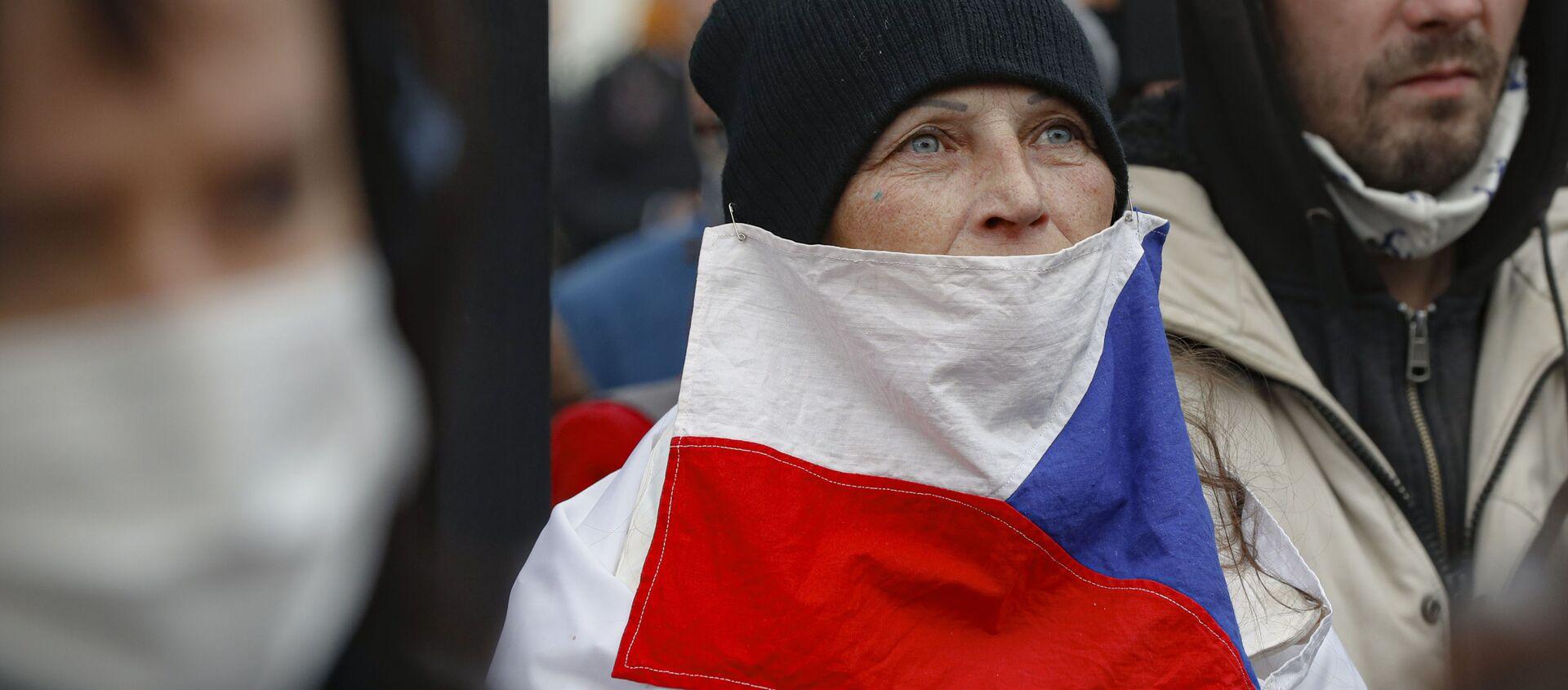 Protesty w Pradze - Sputnik Polska, 1920, 28.02.2021
