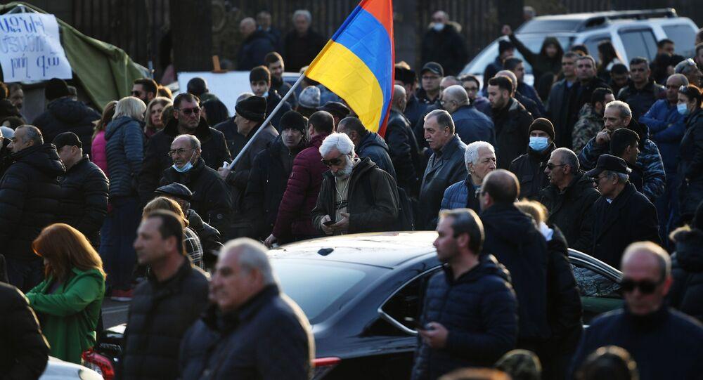 Protesty w Erywaniu.