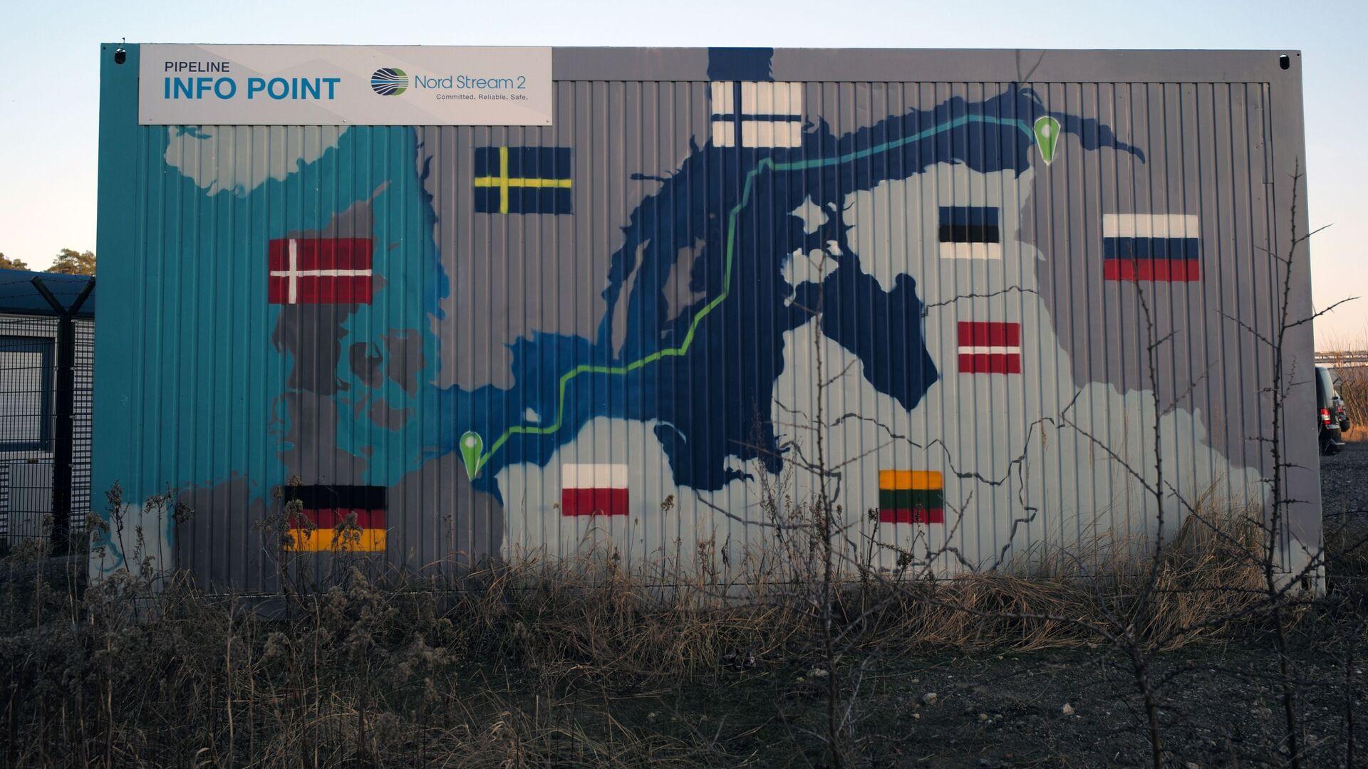 Obiekty lądowe gazociągu Nord Stream 2 w Lubminie w Niemczech. - Sputnik Polska, 1920, 18.05.2021