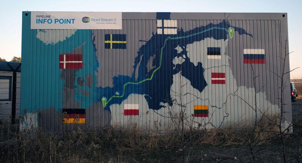 Obiekty lądowe gazociągu Nord Stream 2 w Lubminie w Niemczech.