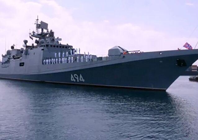 """Fregata """"Admirał Grigorowicz"""" Floty Czarnomorskiej Rosji"""