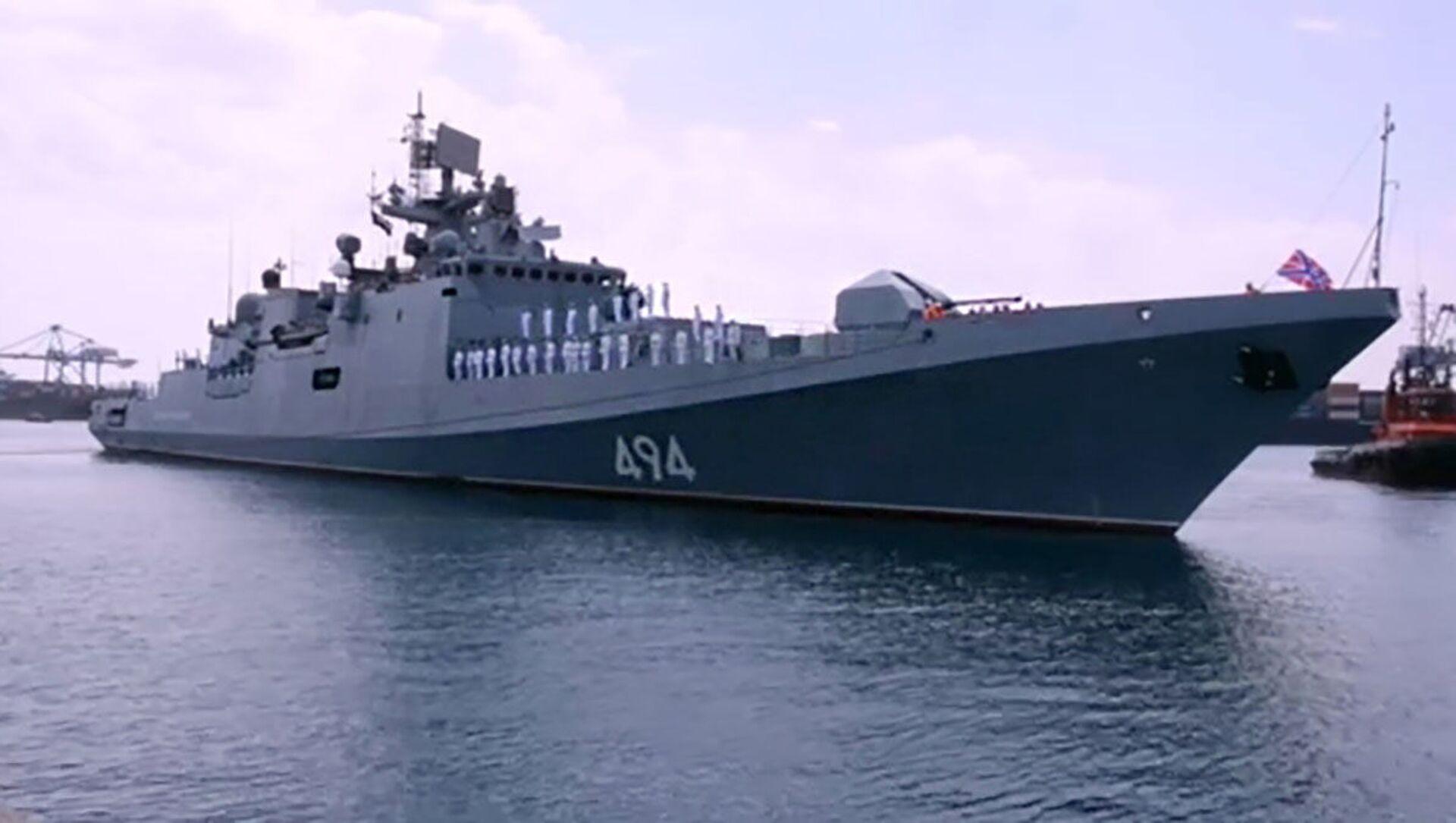 """Fregata """"Admirał Grigorowicz"""" Floty Czarnomorskiej Rosji - Sputnik Polska, 1920, 28.02.2021"""
