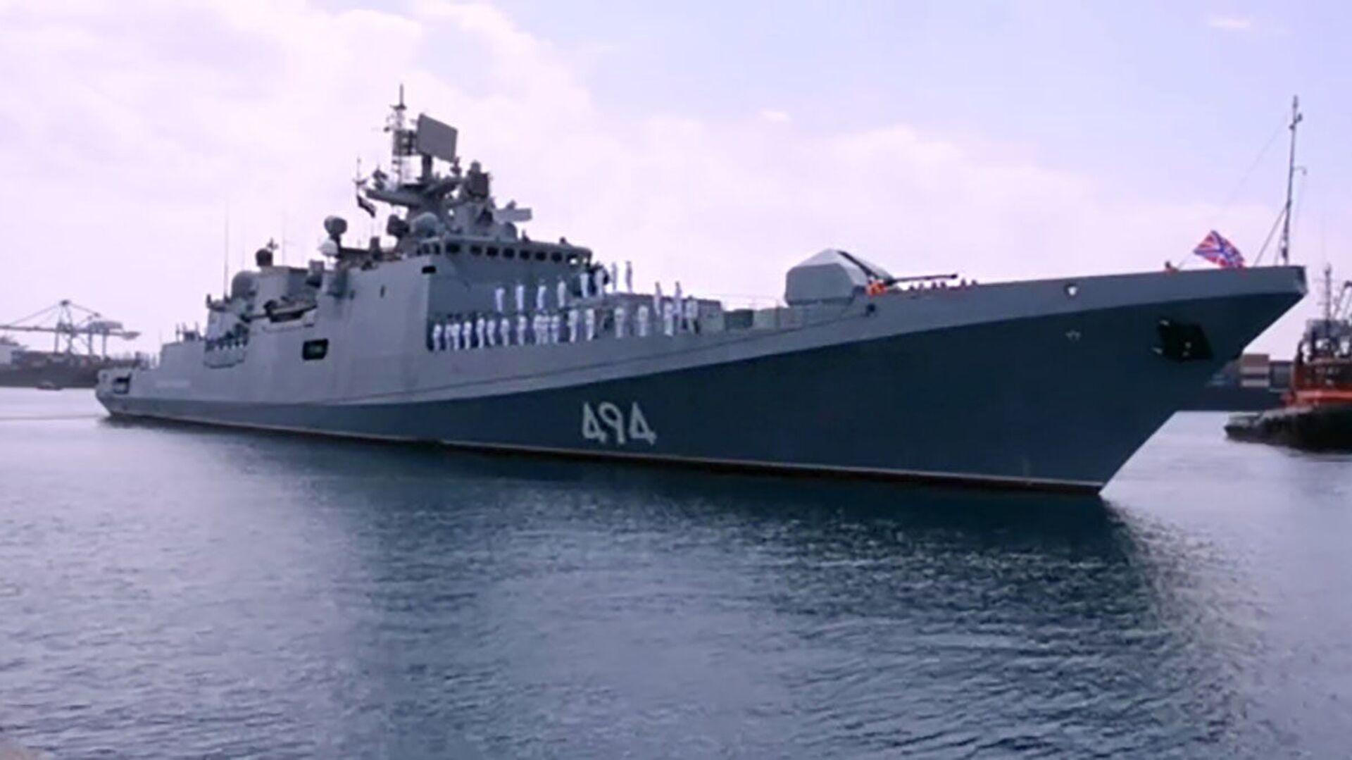 """Fregata """"Admirał Grigorowicz"""" Floty Czarnomorskiej Rosji - Sputnik Polska, 1920, 12.09.2021"""