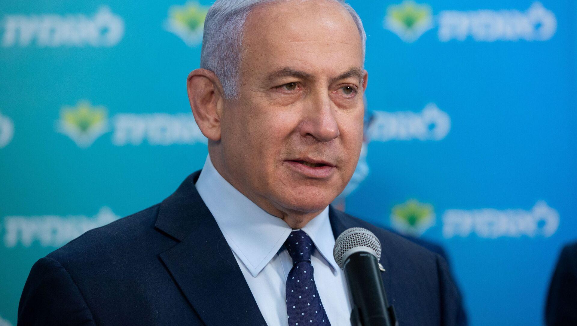 Premier Izraela Benjamin Netanjahu. - Sputnik Polska, 1920, 01.03.2021