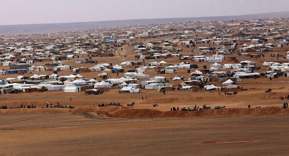 Obóz Rukban na syryjsko-jordańskiej granicy.