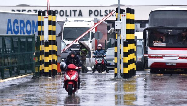 Polsko-ukraińskie przejście graniczne Korczowa-Krakowiec. - Sputnik Polska
