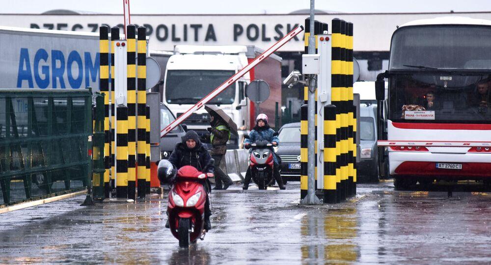 Polsko-ukraińskie przejście graniczne Korczowa-Krakowiec.