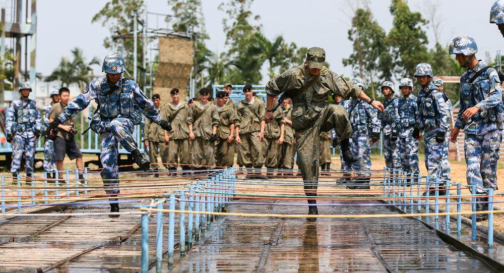 """Rosyjsko-chińskie ćwiczenie """"Współpraca morska-2016"""" w chińskim mieście Zhanjiang."""