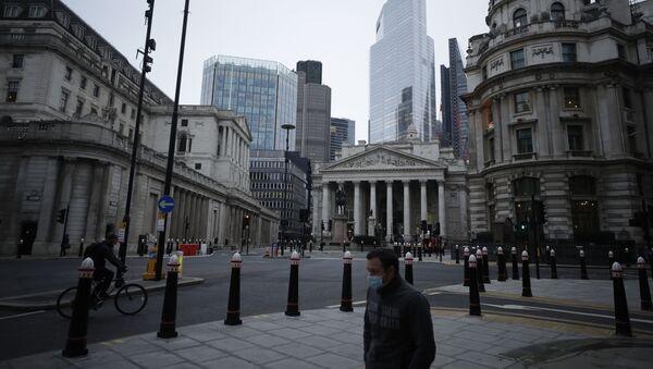 Widok na dzielnicę finansową City w Londynie w Wielkiej Brytanii - Sputnik Polska