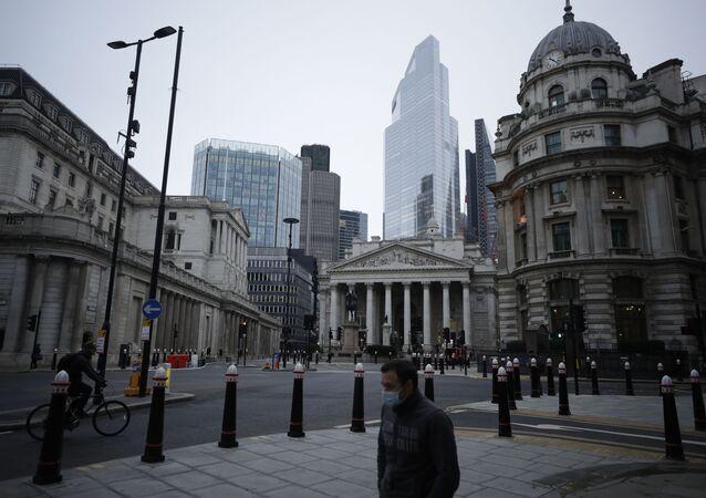 Widok na dzielnicę finansową City w Londynie w Wielkiej Brytanii