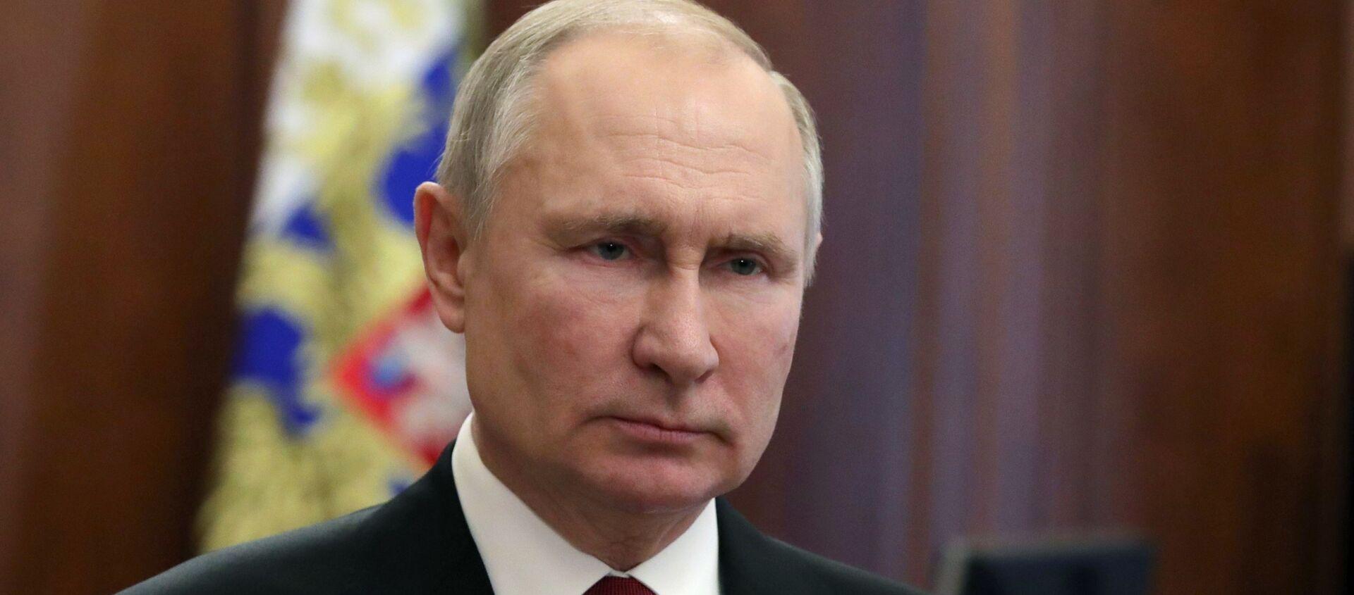 Prezydent Rosji Władimir Putin. - Sputnik Polska, 1920, 01.03.2021