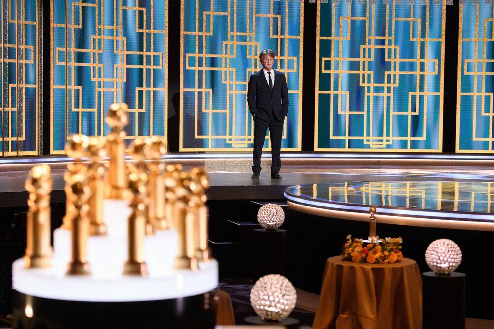 Актер Шон Пенн на церемонии награждения премии Золотой глобус в США.