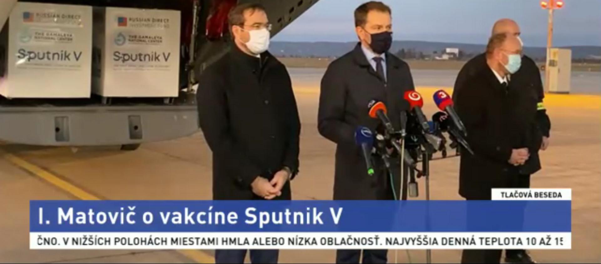 Szczepionka Sputnik V przybyła na Słowację - Sputnik Polska, 1920, 01.03.2021