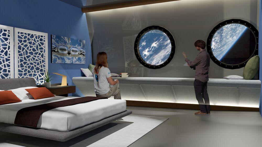 Pokój w hotelu kosmicznym Voyager Station