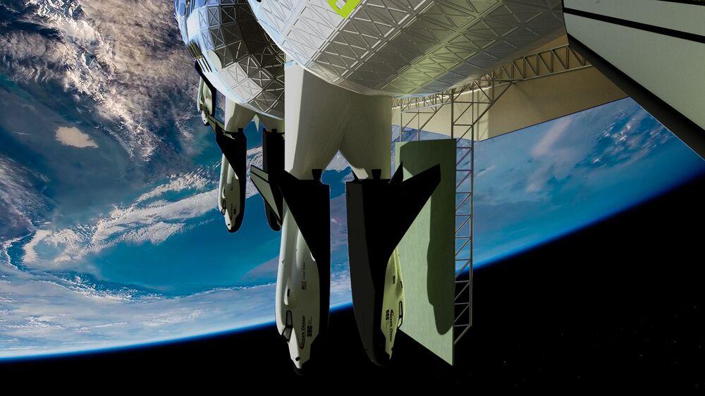 Transport przeznaczony do ewakuacji z pokładu hotelu kosmicznego Voyager Station