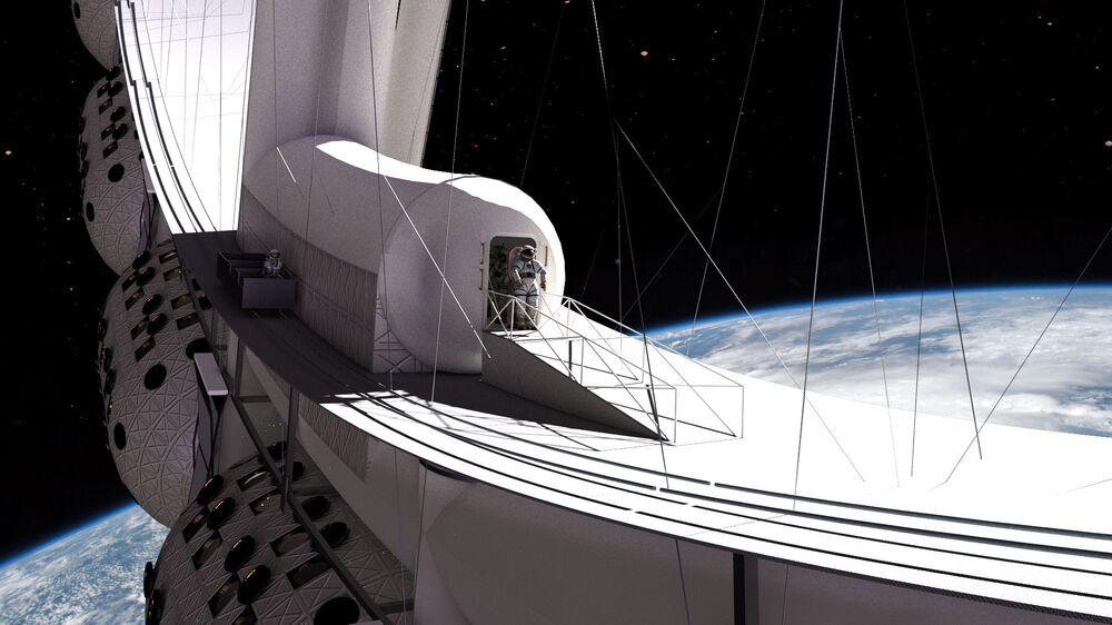 Turysta w otwartym kosmosie