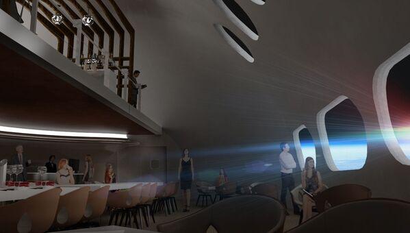 Restauracja w hotelu kosmicznym Voyager Station - Sputnik Polska