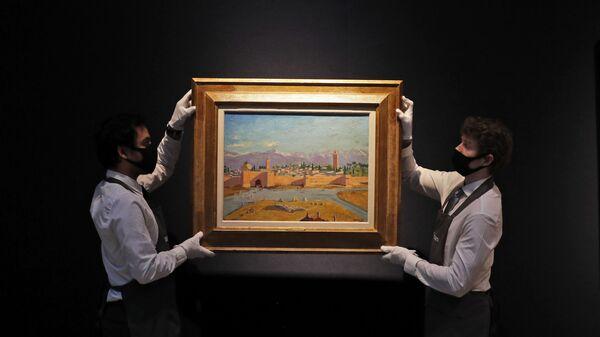 "Obraz Winstona Churchilla ""Minaret meczetu Al-Koutoubiya"" na aukcji Christie's - Sputnik Polska"