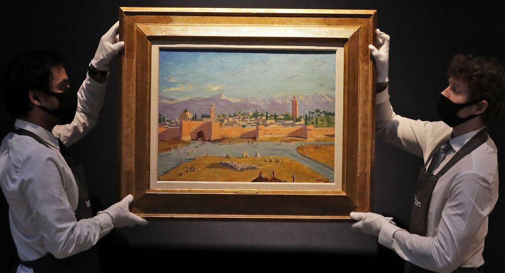 "Obraz Winstona Churchilla ""Minaret meczetu Al-Koutoubiya"" na aukcji Christie's"