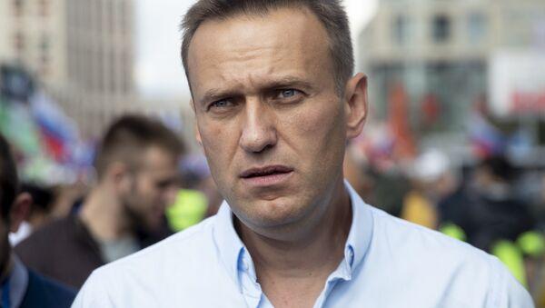 Bloger i opozycjonista Aleksiej Nawalny w Moskwie - Sputnik Polska