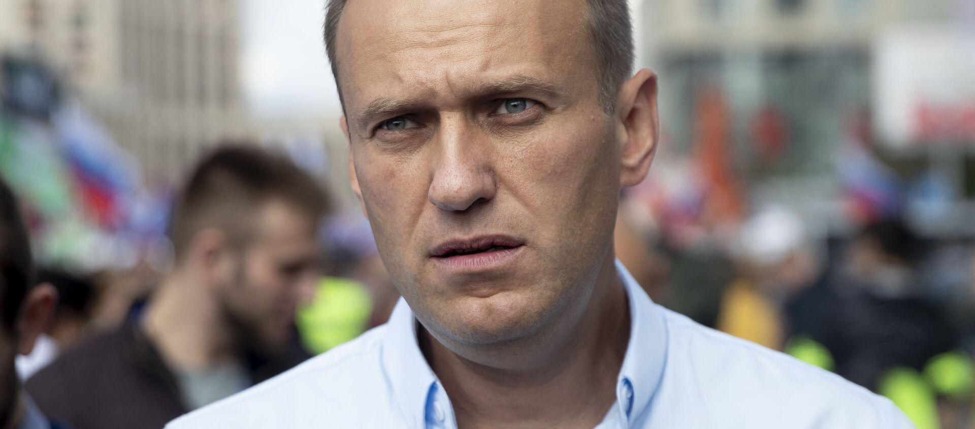 Bloger i opozycjonista Aleksiej Nawalny w Moskwie - Sputnik Polska, 1920, 09.04.2021