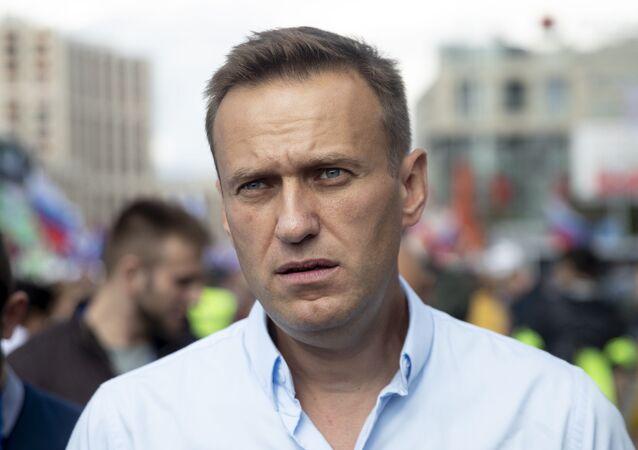Bloger i opozycjonista Aleksiej Nawalny w Moskwie