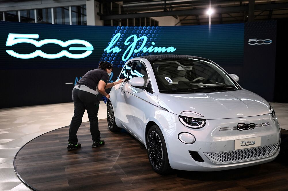 Samochód Fiat 500 Electric