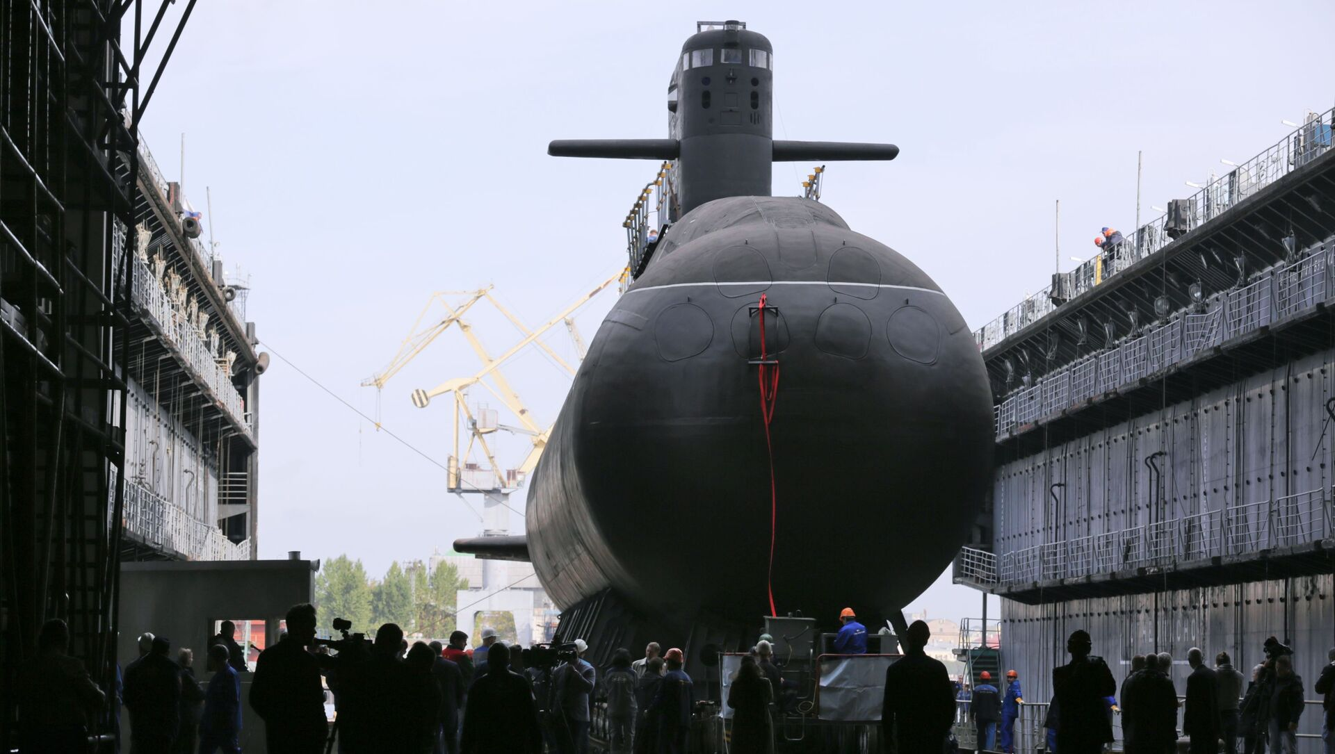 """Uroczysta ceremonia zwodowania okrętu podwodnego z silnikiem spalinowym """"Kronstadt"""" w Petersburgu - Sputnik Polska, 1920, 03.03.2021"""