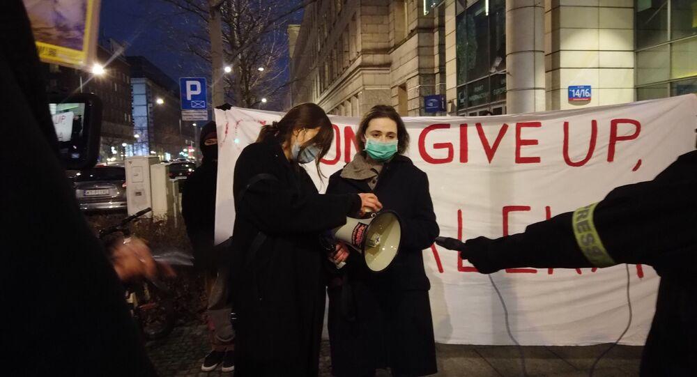 Protest pod siedzibą Parlamentu UE
