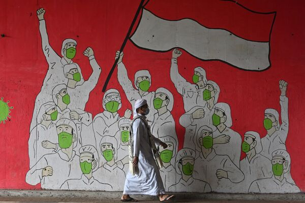 Graffiti w Dżakarcie - Sputnik Polska