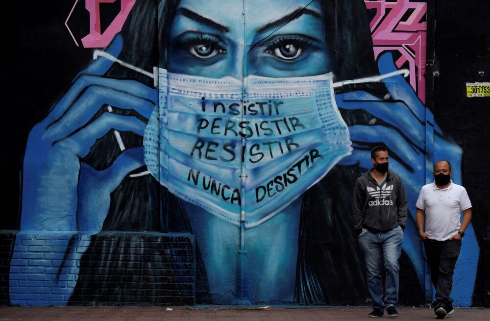 Graffiti w Bogocie w Kolumbii