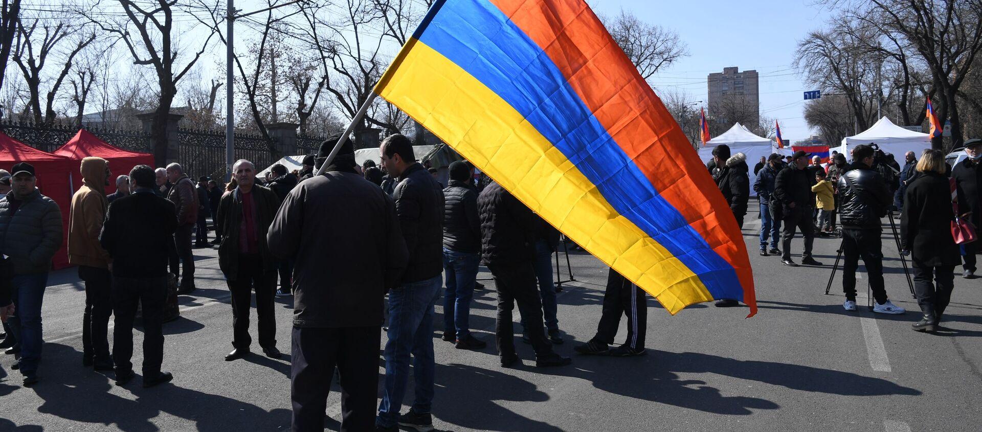 Protesty opozycji w Erywaniu - Sputnik Polska, 1920, 06.03.2021
