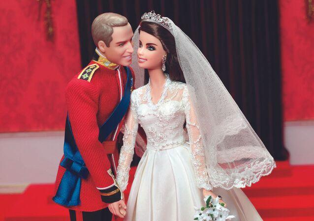 Ken Książe William i Barbie Kate Middleton w dniu ślubu