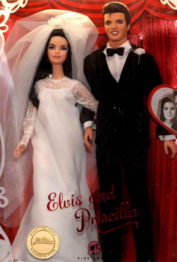 Ken Elvis Presley i jego żona Priscilla